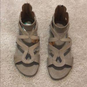 Tan Bandolino Cage Sandals